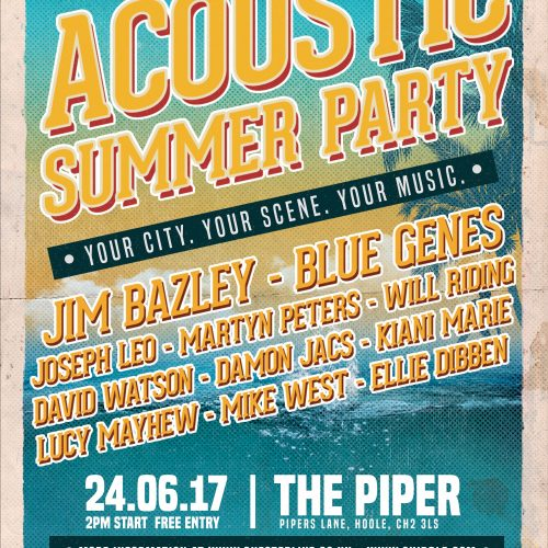 Chester Live Announce 'Acoustic Summer Party'
