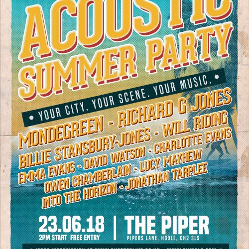Chester Live announce their Acoustic Summer Party 2018